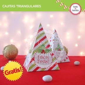 *GRATIS * Navidad verde y rojo: cajitas triangulares