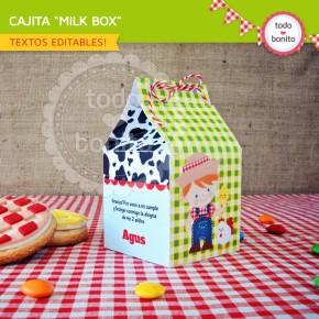 Granja niños: milkbox