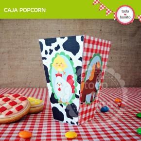 Granja niños: caja popcorn
