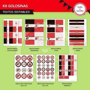 Ladybug rojo: etiquetas de golosinas