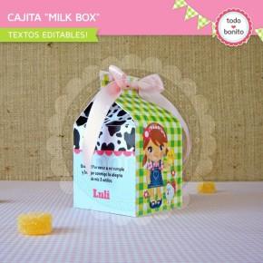Granja niñas: milkbox