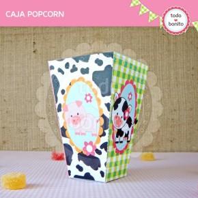 Granja niñas: caja popcorn