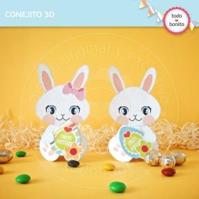 Pascuas: conejitos 3D