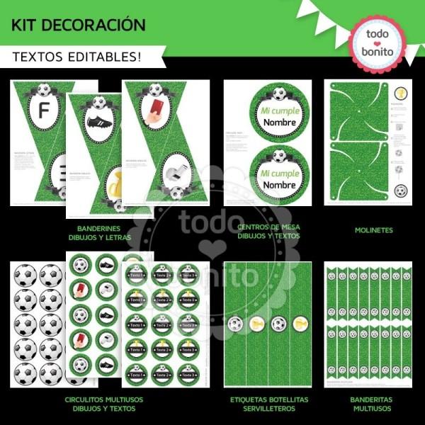 Decoracion De Cumplea 241 Os De Futbol