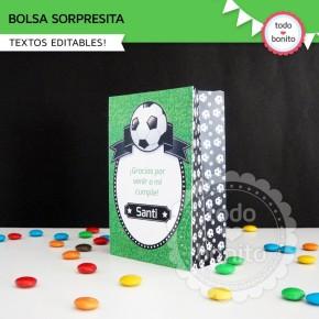 Fútbol: bolsa sorpresita para imprimir