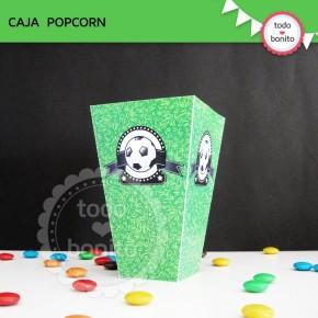Fútbol: Caja popcorn para imprimir
