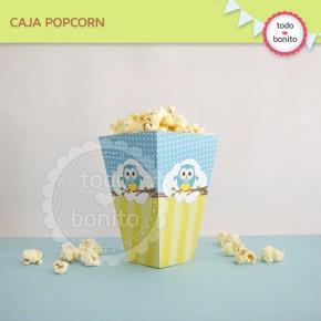 Búhos niños: cajita popcorn