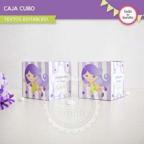 Hada Lila: cajita cubo