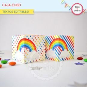 Arcoiris: cajas cubo