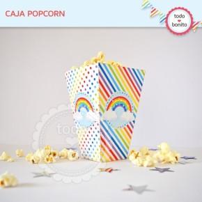 Arcoiris: cajita popcorn