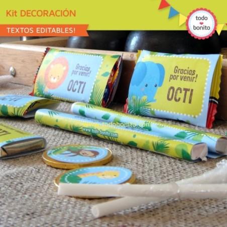 Selva: kit etiquetas de golosinas