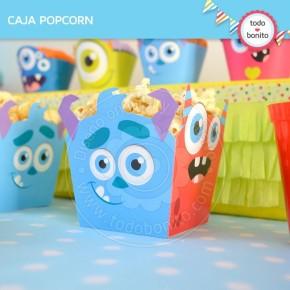 Monstruitos: Caja popcorn para imprimir