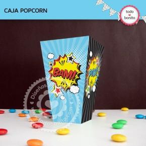Superhéroes: caja popcorn