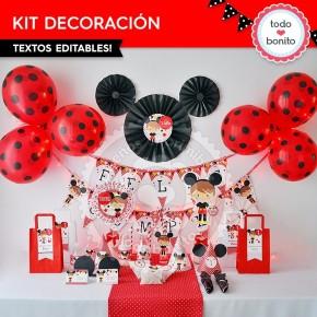 Orejas Mickey Rojo: decoración de fiesta