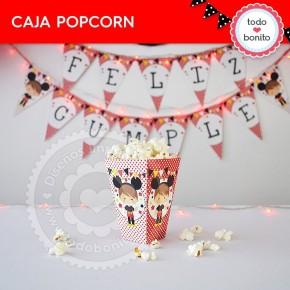 Orejas Mickey Rojo: cajita popcorn