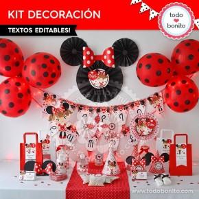Orejas Minnie Rojo: decoración de fiesta