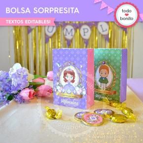 Princesita Sofia: bolsa sorpresita para imprimir