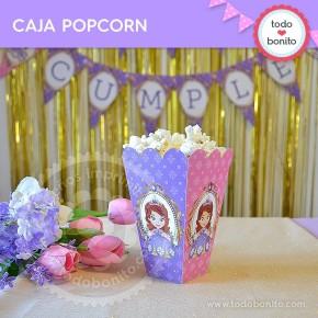 Princesita Sofia: caja popcorn para imprimir