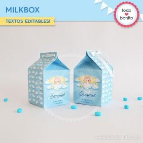 Angelito bebé celeste: milkbox