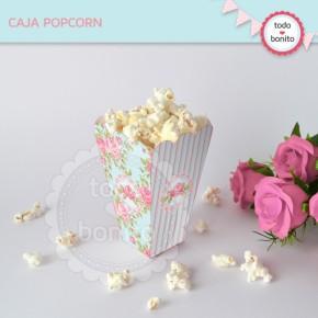 Shabby Chic aqua+rosa: cajita popcorn