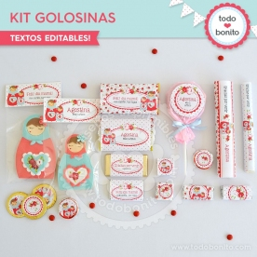 Matryoshka: kit etiquetas de golosinas