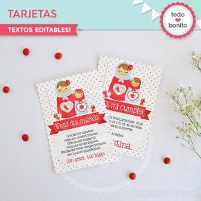 Matryoshka: tarjeta y/o invitación