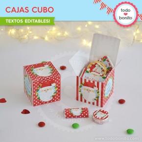 Carita de Santa: cajitas cubo
