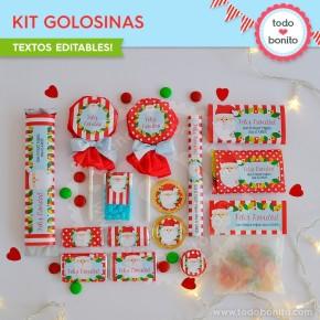Carita de Santa: kit etiquetas de golosinas