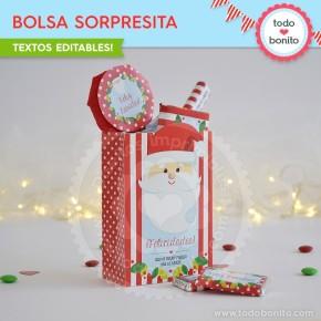 Carita de Santa: bolsa sorpresita para imprimir