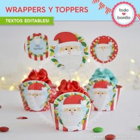 Carita de Santa: wrappers y toppers
