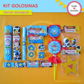 Toy Story: kit etiquetas de golosinas