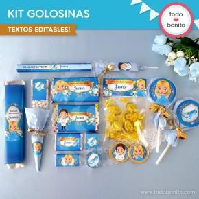 Cenicienta: kit etiquetas de golosinas