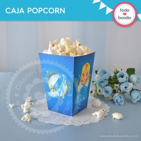 Cenicienta: caja popcorn para imprimir