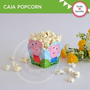 Cerdita: caja popcorn para imprimir