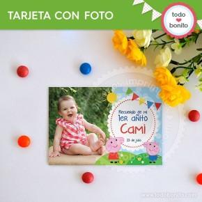 Cerdita: tarjeta con foto