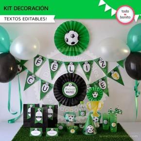 Fútbol: decoración de fiesta para imprimir