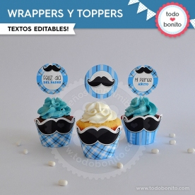 Bigotes: wrappers y toppers