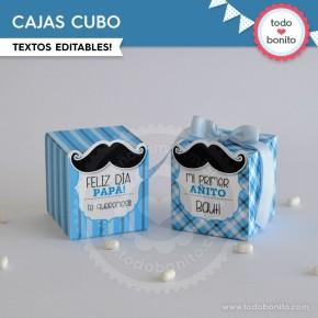 Bigotes: cajitas cubo