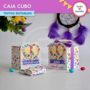 Amor y Paz: caja cubo