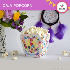 Amor y Paz: caja popcorn