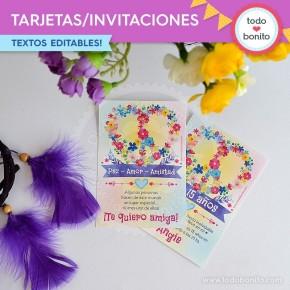 Amor y Paz: tarjeta