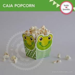 Sapo: caja popcorn para imprimir