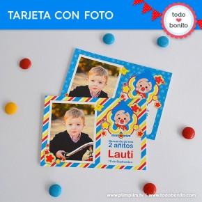 Plim Plim: tarjeta con foto