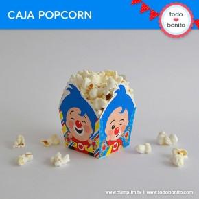 Plim Plim: caja popcorn para imprimir