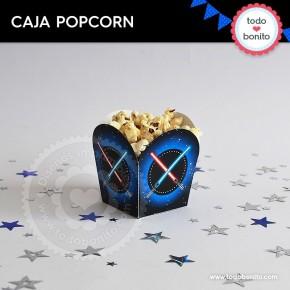 Star Wars: caja popcorn para imprimir