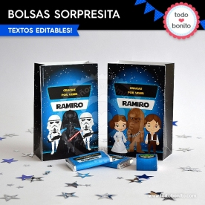 Star Wars: bolsa sorpresita para imprimir