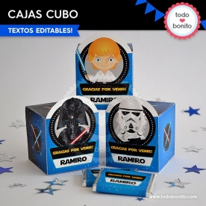 Star Wars: cajitas cubo para imprimir