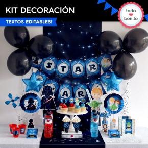Star Wars: decoración de fiesta para imprimir