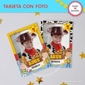 Toy Story: tarjeta con foto