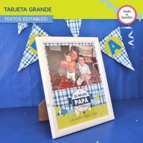Día del padre: tarjeta grande